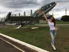 Amanda Gontijo é madrinha da Esquadrilha de voo da Força Aérea