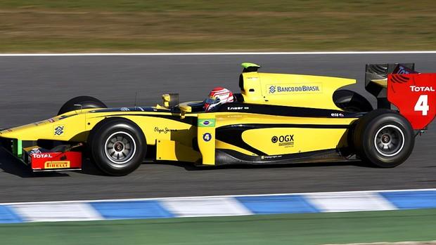 Felipe Nasr DAMS GP2 testes em Jerez de la Frontera (Foto: Divulgação)
