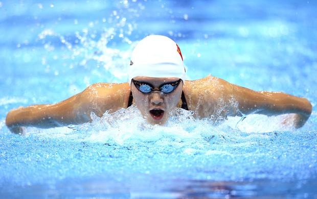 Shiwen Ye na prova de natação 200m medley Londres (Foto: AFP)