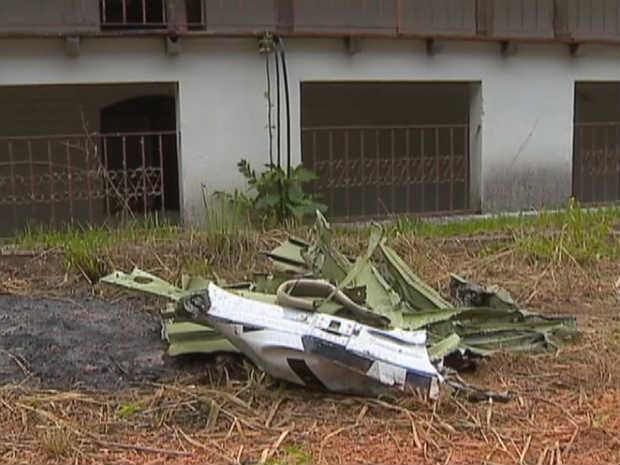 Acidente Avião Vilma Alimentos Juiz de Fora 2012 1 (Foto: Reprodução/ TV Integração)