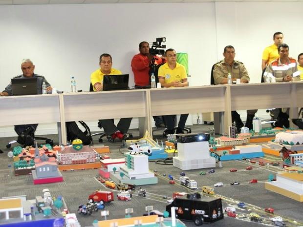 A operação teve início após a ativação do Sistema Integrado de Comando e Controle (SICC), no Centro Integrado de Comando e Controle (CICC) (Foto: Divulgação/SSP)