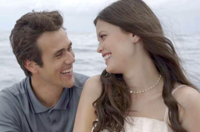 Maria Vitória e Vicente em 'Tempo de amar' (Foto: TV Globo)