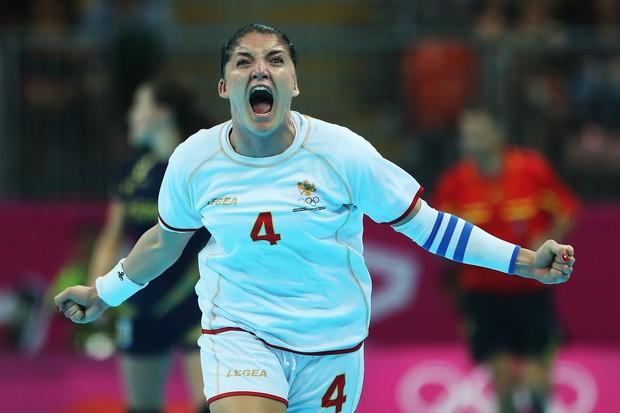 Jovanka Radicevic, da seleção de Montenegro: prata inédita (Foto: Getty Images)