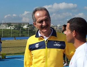 Aldo Rebelo visita Cear em Campinas (Foto: Murilo Borges / Globoesporte.com)