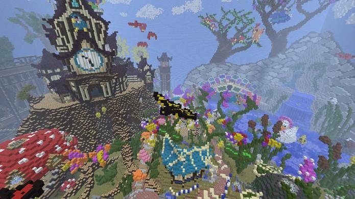 No modo Creative suas única limitações são imaginação e paciência (Foto: Reprodução/Planet Minecraft)