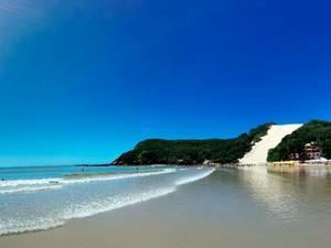 Praia de Ponta Negra, em Natal (Foto: Rafael Barbosa/G1)