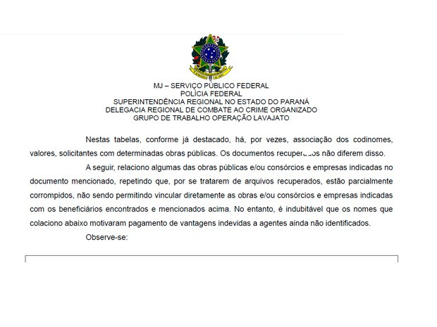 Documento da PF cita obra da Cesan em lista de propina da Odebrecht (Foto: Reprodução/ Documento da PF)