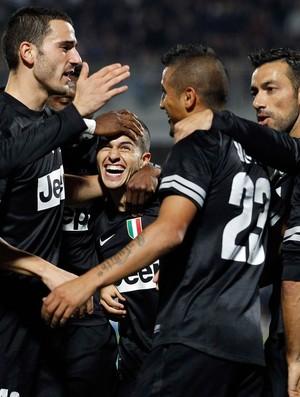 jogadores gol Juventus (Foto: Reuters)