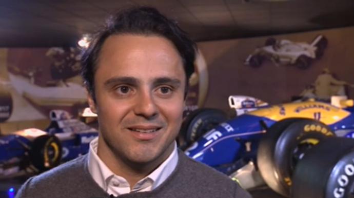 Felipe Massa na sede da Williams, em Grove (Foto: Reprodução)