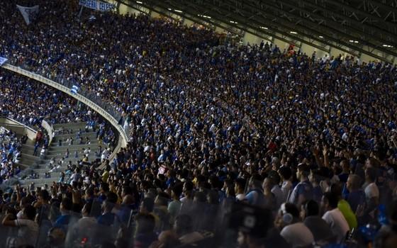A torcida do Cruzeiro no Mineirão (Foto: Divulgação / Cruzeiro)