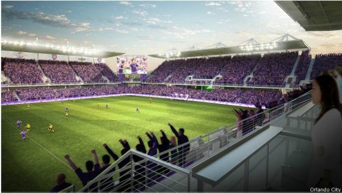 Maquete do novo estádio do Orlando, que deverá custar US$ 155 milhões (Foto: BBC Brasil)