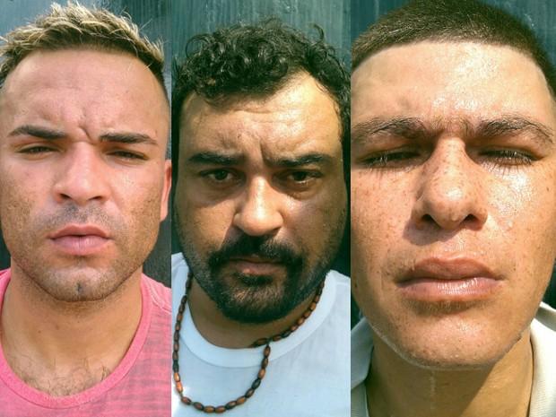 Homens foram presos no bairro Aviação, em Praia Grande (Foto: G1)