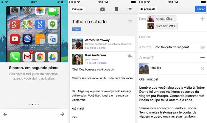 App do Gmail agora suporta sincronização em segundo plano (Foto: Divulgação/AppStore)