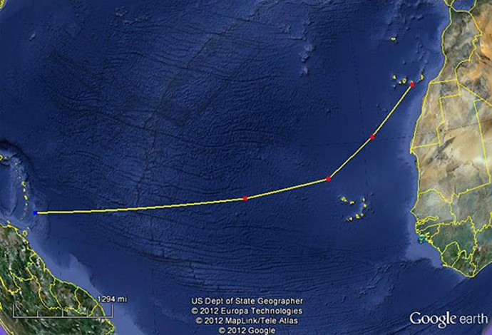 Caê, remador carioca que vai cruzar o Atlântico (Foto: Reprodução/Facebook)