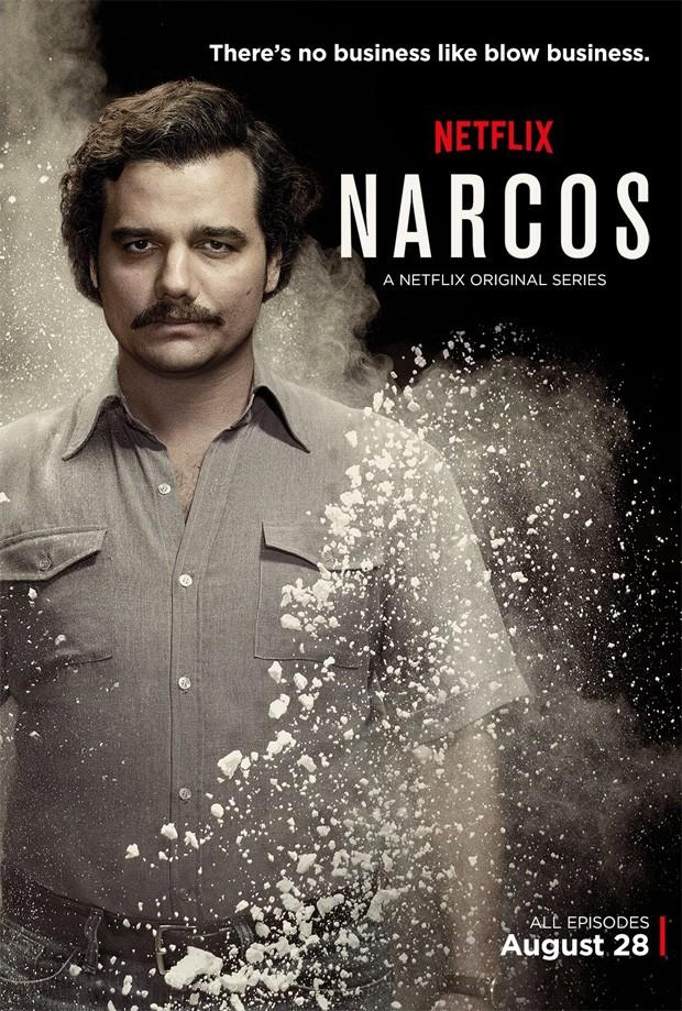 Wagner Moura interpreta Pablo Escobar em 'Narcos', no Netflix (Foto: Divulgação)