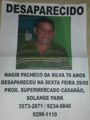 Família continua em busca do aposentado Nagib que sofre de Alzheimer Goiás Goiânia (Foto: Divulgação/Wanderson Epaminondas)