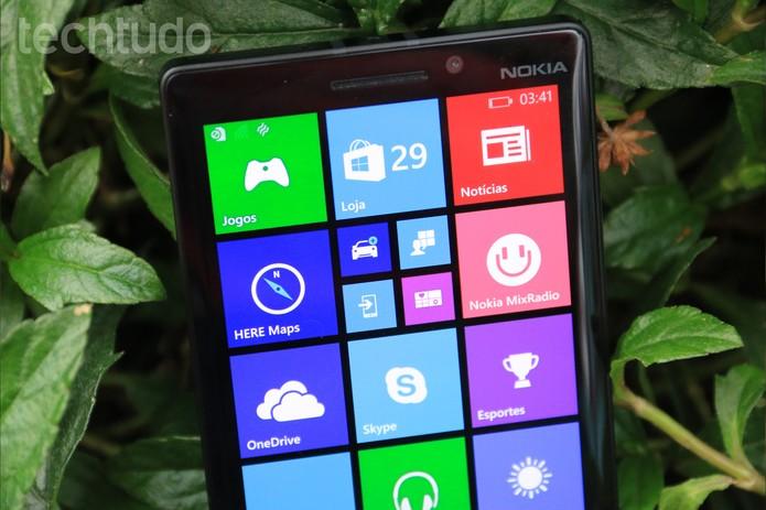 Detalhes da interface do Nokia Lumia 930 (Foto: Lucas Mendes/TechTudo)