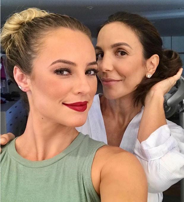 Paolla Oliveira foi maquiada por Ivete (Foto: Reprodução Instagram)