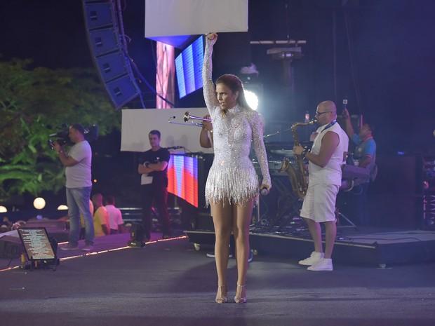 Ivete Sangalo em show em Salvador, na Bahia (Foto: Elias Dantas/ Ag. Haack)