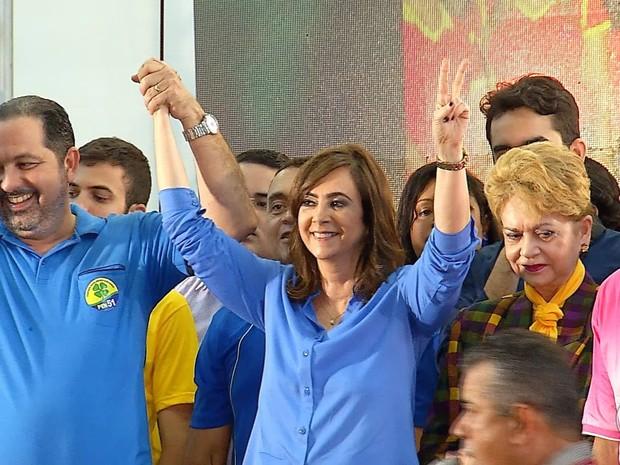 PSDB lançou Márcia Maia como candidata a prefeita de Natal (Foto: Reprodução/Inter TV Cabugi)