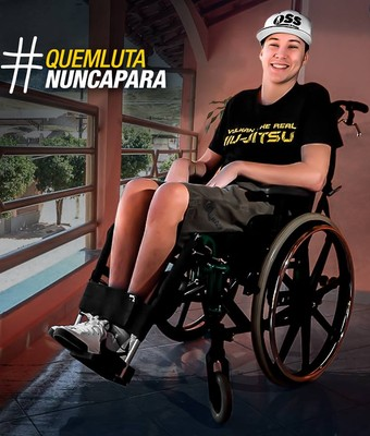 Gabriel Diniz, capixaba que lesionou a coluna em luta de jiu-jítsu (Foto: Reprodução/Instagram)
