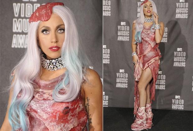 """ELE FOI UM DOS CRIADORES DO VESTIDO DE CARNE USADO POR LADY GAGA NO """"MTV VMA 2010""""  (Foto: Getty Images)"""