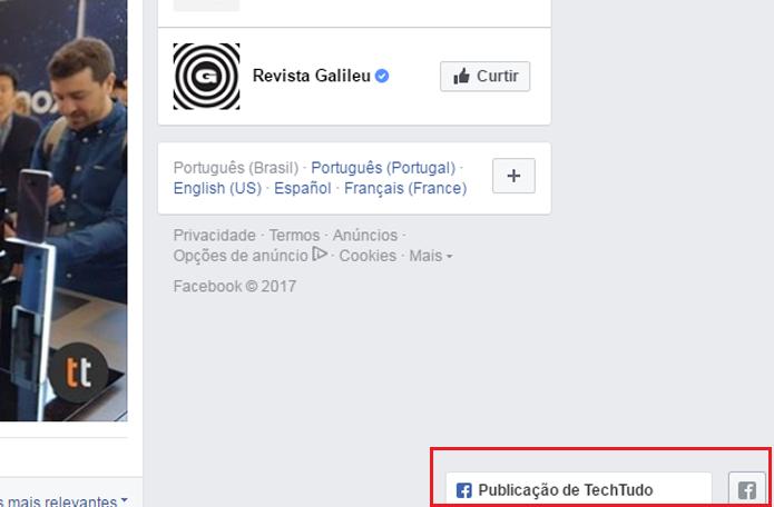 Usuário pode abrir várias publicações do Facebook ao mesmo tempo em pop-ups (Foto: Reprodução/Gabrielle Lancellotti)