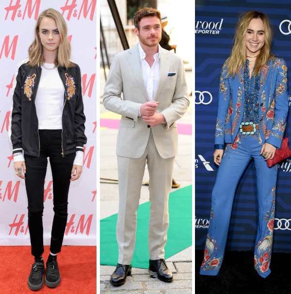 Cara Delevingne, Roichard Madden e Suki Waterhouse (Foto: Getty Images)