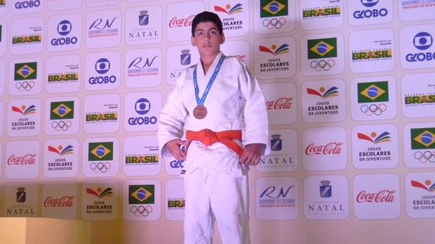 Whintney Fernandes conquistou o bronze no judô (Foto: Ascom /SEED)
