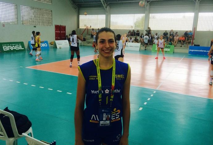 Paula é destaque nos Jogos Escolares e atleta da seleção brasileira (Foto: Guilherme Costa)