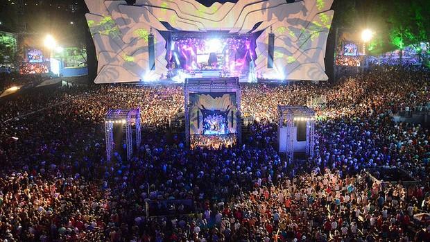 Festival de Verão levou mais de 100 mil pessoas para o Parque de Exposições (Foto: Aristeu Chagas/COOFIAV/Divulgação)
