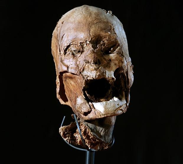 Cabeça mumificada (Foto: AFP)