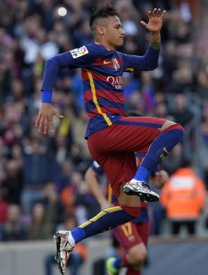 Neymar gol Barcelona x Getafe (Foto: AFP)