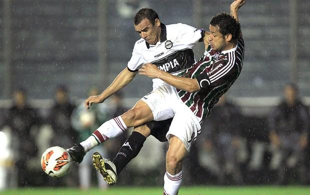 Fred jogo Fluminense Olimpia (Foto: EFE)