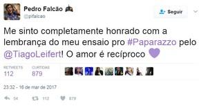 Comentário de Pedro Falcão no Twitter (Foto: Reprodução/Twitter)