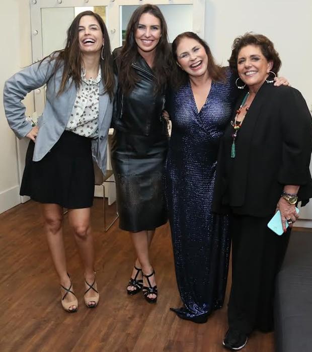 Emanuelle Araújo, Glenda Kozlowski, Fafá de Belém e Leda Nagle (Foto: Roberto Filho/Brazil News)