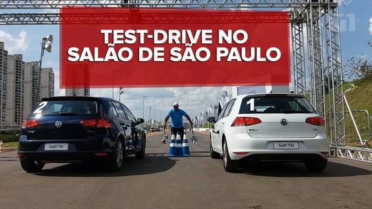 Salão do Automóvel tem espaço de test-drive com arrancada e off-road