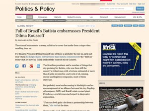 Queda de Eike Batista 'envergonha' Dilma Rousseff, diz 'FT' (Foto: Reprodução)