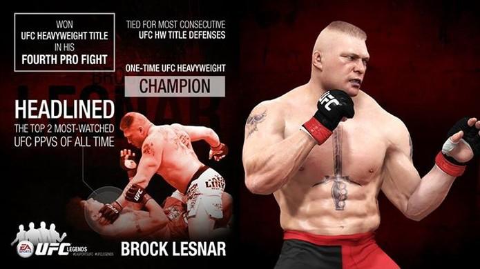Brock Lesnar em breve estará disponível no EA SPORTS UFC. (Foto: Divulgação)