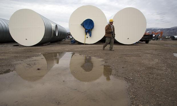 Bunkers enfileirados em North Salt Lake (Foto: Jim Urquhart/Reuters)
