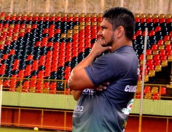 Pablo Simões, técnico do Galvez (Foto: Nathacha Albuquerque)