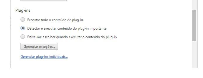 Recurso de ativação do plugin no Google Chrome (Foto: Reprodução/Barbara Mannara)