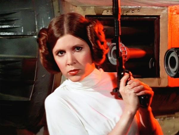 A atriz Carrie Fisher em 'Star Wars' (1977) (Foto: Reprodução)