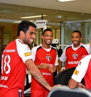 jogadores no treino do São Paulo (Foto: Divulgação / Site Oficial do São Paulo)