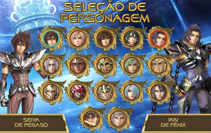 No jogo, você pode controlar tanto os cavaleiros de bronze quando os de ouro, na famosa saga das 12 Casas do Santuário (Foto: Divulgação)
