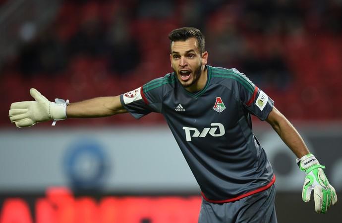 Guilherme Marinato goleiro Lokomotiv Moscou (Foto: Epsilon/Getty Images)
