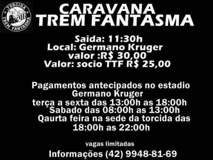 Torcida do Operário-PR excursão (Foto: Torcida Trem Fantasma/Divulgação)