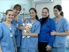 Bebê que nasceu com 400 g e 27 cm surpreende médicos em Joinville, SC