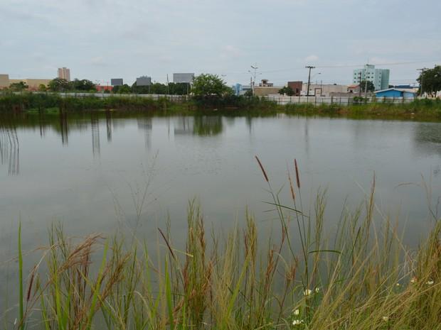 Segundo morador, 'lagoa da dengue' começou a se formar há cinco anos (Foto: Ísis Capistrano/ G1)