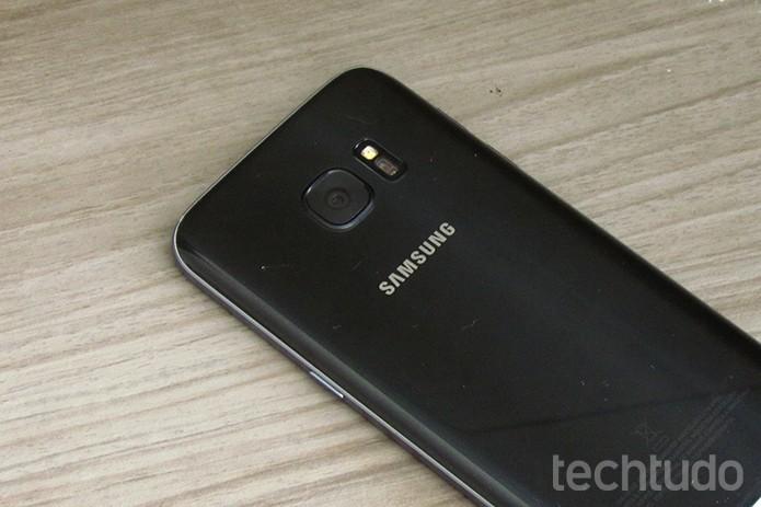 Câmera do Galaxy S7 é herdada, em parte, pelo S8 (Foto: Paulo Alves/TechTudo)